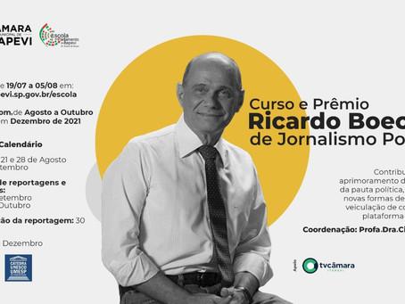 Curso e prêmio Ricardo Boechat de Jornalismo Político está com inscrições abertas