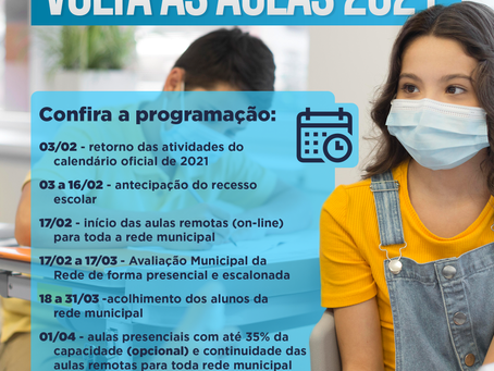 VGP: Educação apresenta Plano de Retomada das aulas presenciais