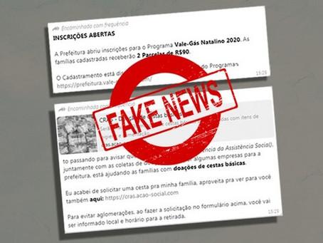 """Embu das Artes: São falsas as notícias de inscrição para """"Vale-Gás"""" e doação de """"cestas básicas"""""""
