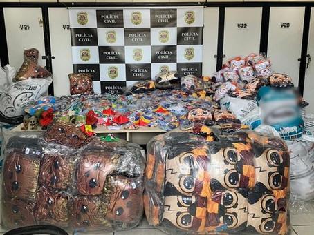 Fábrica que falsificava máscaras de proteção é fechada em Carapicuíba