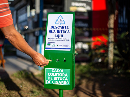 Cotia: Projeto de reciclagem de bituca retira 122kg de lixo tóxico do meio ambiente