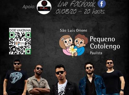 Banda MobSound fará live em prol do Pequeno Cotolengo