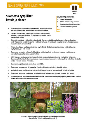 SL 2.11 Suomessa tyypilliset kasvit ja sienet