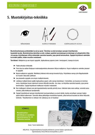 5. Muotokirjoitus-tekniikka