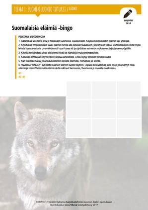 SL 3.5 Suomalaisia eläimiä -bingo
