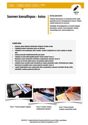 SL 2.9 Suomen kansallispuu koivu