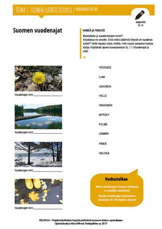 SL 1.5 Suomen vuodenajat