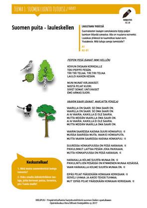 SL 2.8 Suomen puita - lauleskellen