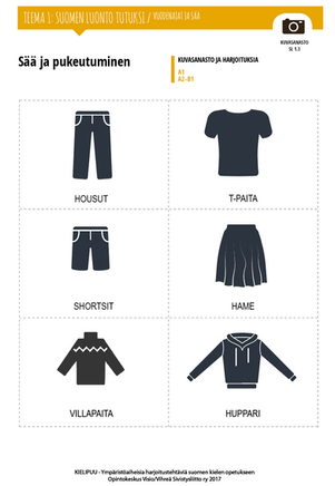SL 1.3 Sää ja pukeutuminen