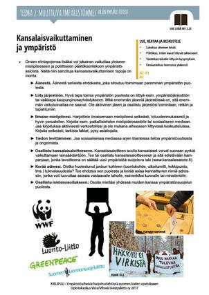 MY 2.25 Kansalaisvaikuttaminen ja ympäristö