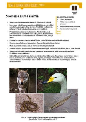 SL 3.13 Suomessa asuvia eläimiä