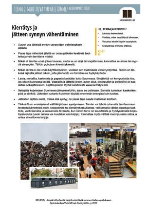 MY 2.23 Kierrätys ja jätteen synnyn vähentäminen