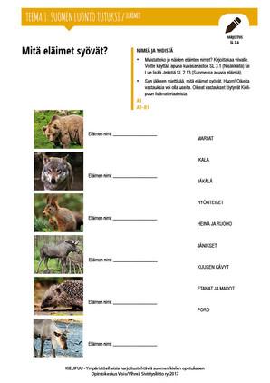 SL 3.6 Mitä eläimet syövät?