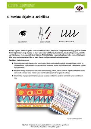4. Kuvista kirjaimia -tekniikka