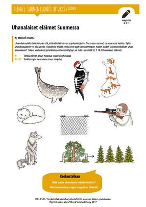 SL 3.11 Uhanalaiset eläimet Suomessa A+B