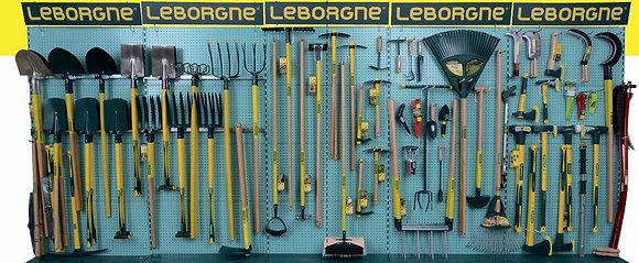 RATISSOIRE A POUSSER manche ergonomique Leborgne           / Q2299368