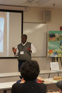 Delivering a Lecture at Suffolk U.