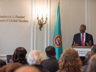 Ugandan Prime Minister Attends Policy Leaders Forum at Boston University's Pardee School