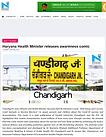 Haryana Health Minister releases awareness comic
