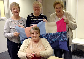 Blanket for refugees made by Chat & Charity at Encounter Centre