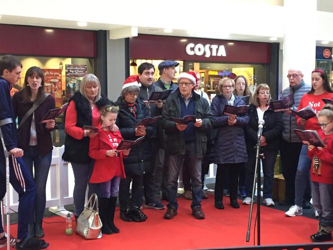 Carol Service in the Mall