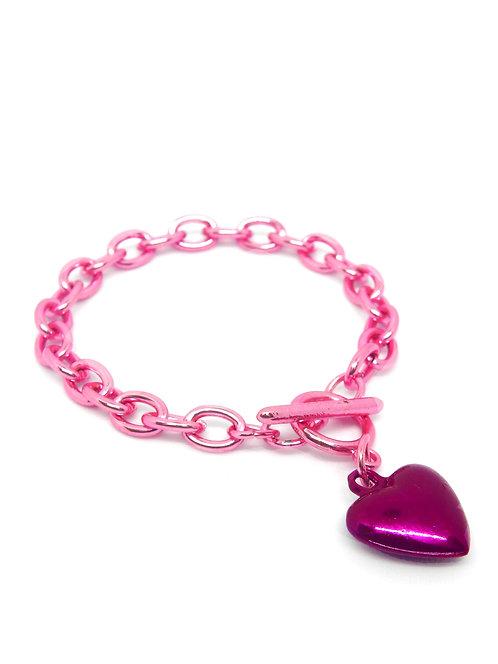Hematit Kalpli Zincir Kadın Bileklik