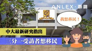 中大香港亞太研究所民調: 三成港人欲移民 宜居城市評分降