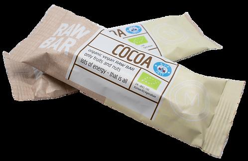 Raw Bar med kakaosmag og uden tilsat sukker. Produceret for SIF
