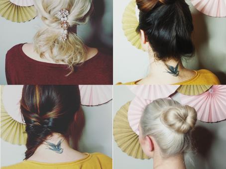 Beauty : Hair tutorial - 4 easy hairstyles !