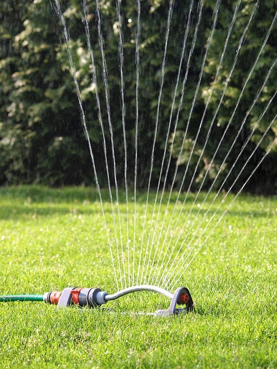 Sprinkler, Water, Cool
