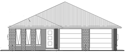 Drawing of dual income house at Waterlea estate at Walloon Ipswich.