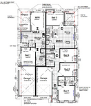 Floor plan of Brentwood forest dual income homes.