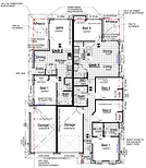 Floor plan of bellbird grove dual income homes.