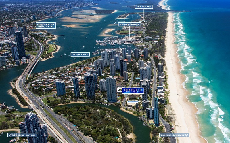 Cerulean residences are located at main beach on the gold coast.