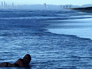 Surfers Paradise Skyline from Couran Cove Beach