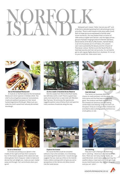 Adventure Magazine Norfolk Island