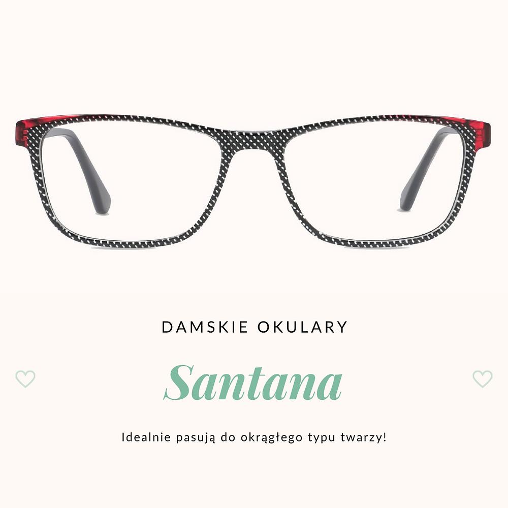 Piękne, damskie okulary korekcyjne Santana w bboptic.