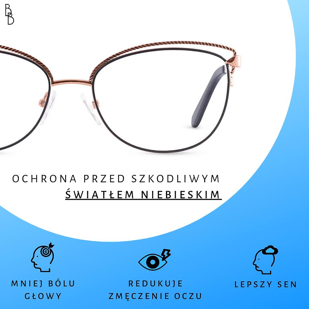 Piękne okulary damskie Gaspar.