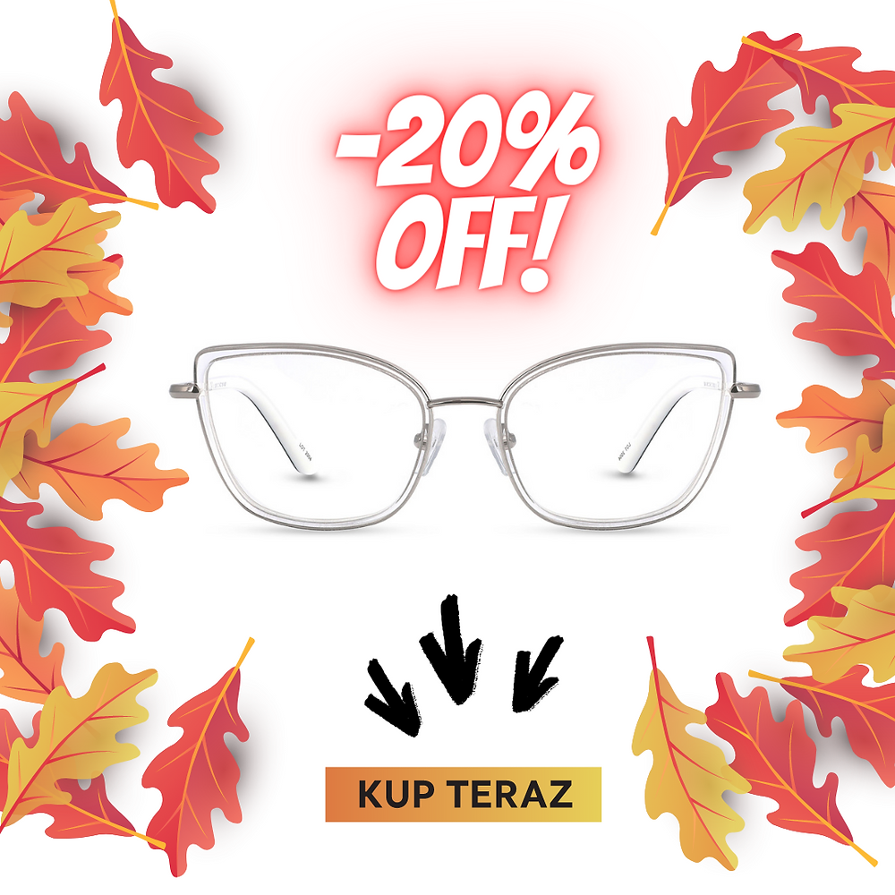 Piękne okulary damskie od 290 zł ze szkłami korekcyjnymi.