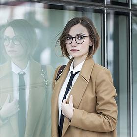 Czarne okulary korekcyjne damskie