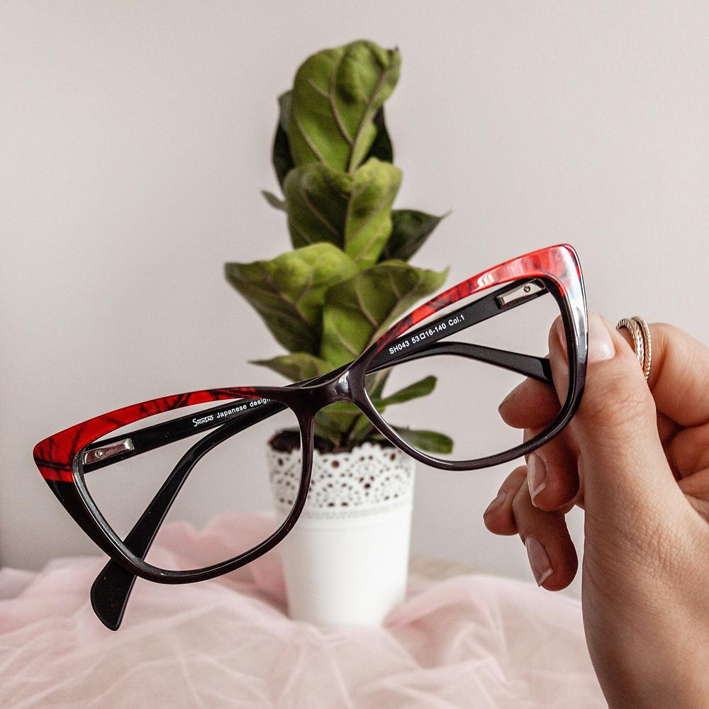 Piękne, damskie, kocie okulary w bboptic.