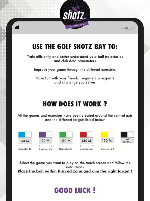 Information panel Golf Shotz