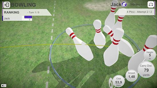 Bowling 3 golf shotz