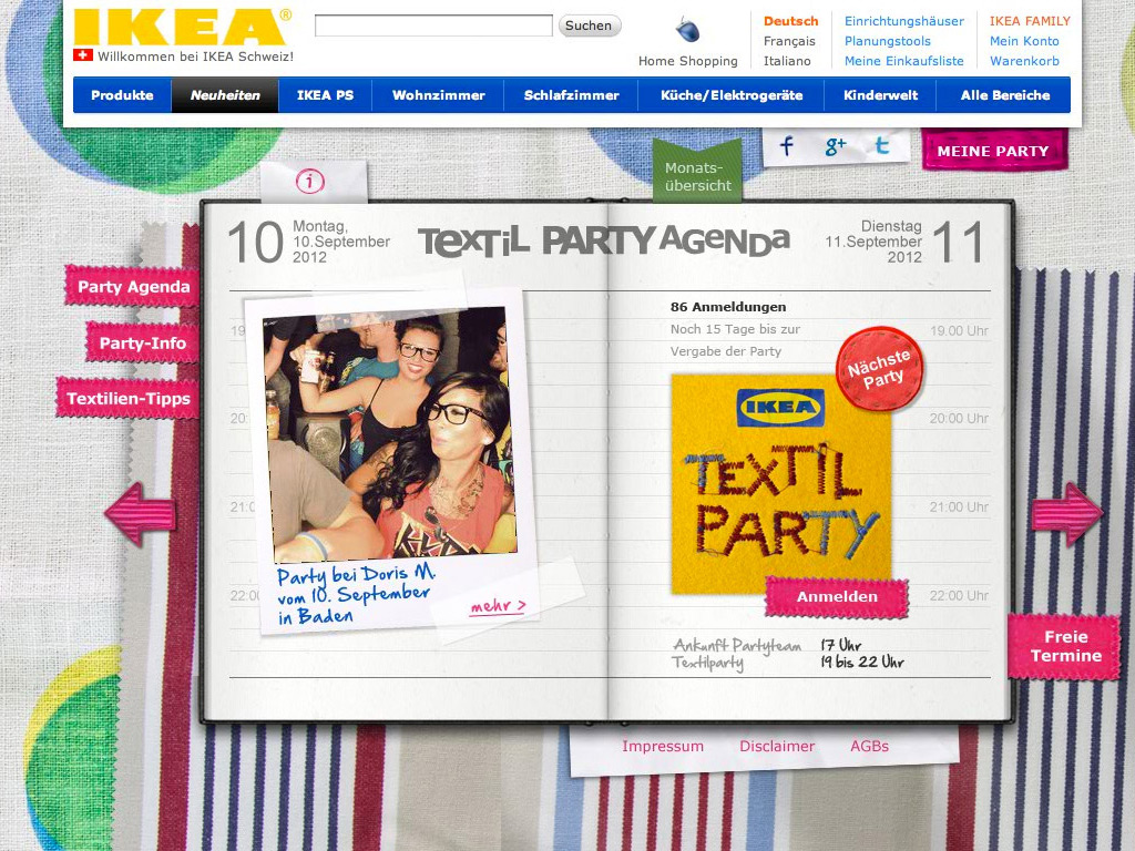 IKEA Textil Party