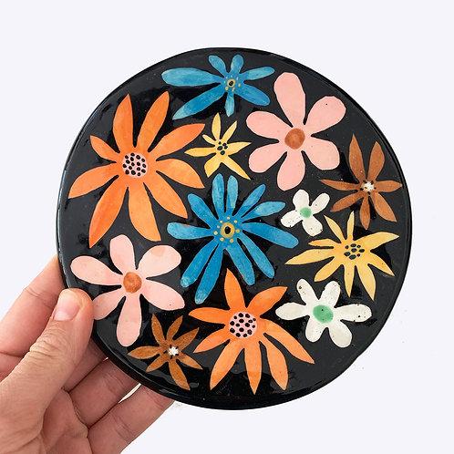 Large Ceramic Dish: Flower Power