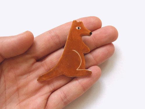 Ceramic Brooch: Kangaroo