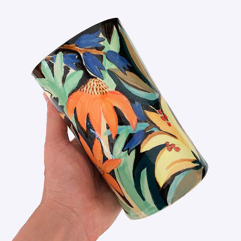 Ceramic Tube Vase: Gardener