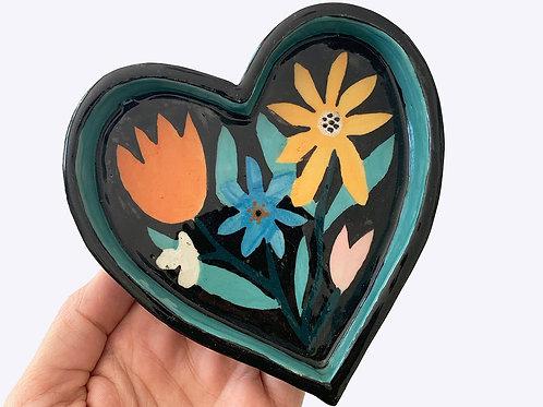 Seconds - Ceramic Pet Bowl: Love Heart
