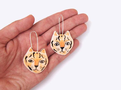 Ceramics Earrings: Tigers