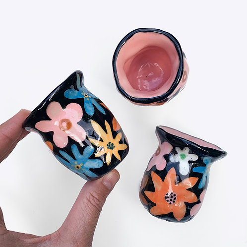 Ceramic Bud Vase: Flower Power